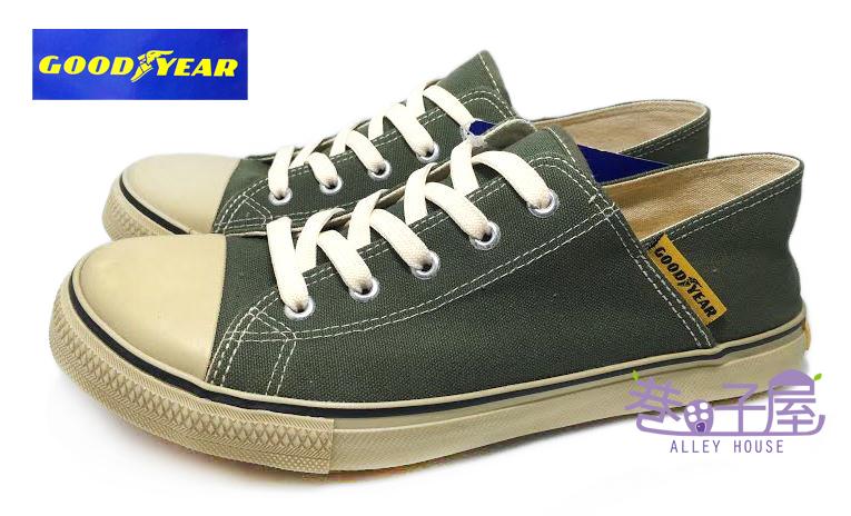 【巷子屋】GOODYEAR固特異 男款經典防潑水後踩兩用式止滑帆布鞋(廚師適用) [43035] 綠 超值價$298