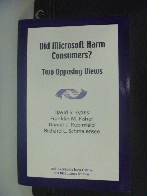 【書寶二手書T2/網路_MEP】Did Microsoft Harm Consumers