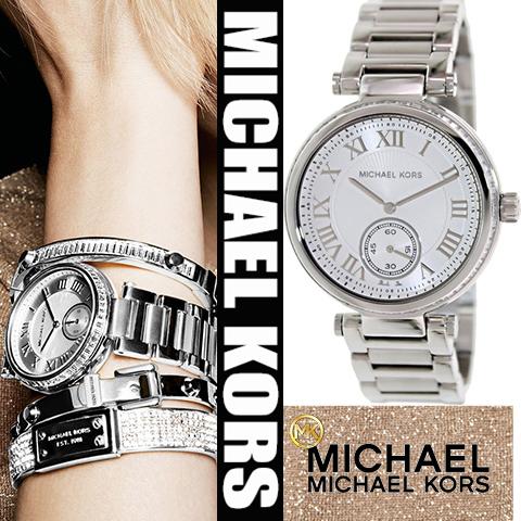 美國Outlet正品代購 MichaelKors MK 復古羅馬數字水鑽  陶瓷  三環 手錶 腕錶 MK5866