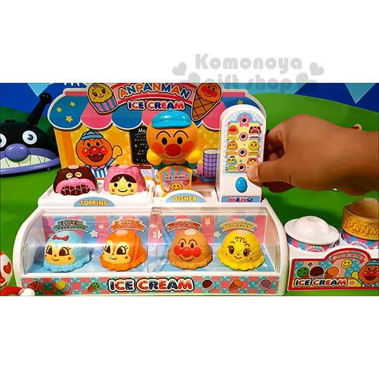 〔小禮堂嬰幼館〕麵包超人 冰淇淋店玩具組《橘盒裝.朋友.大臉》適合3歲以上兒童