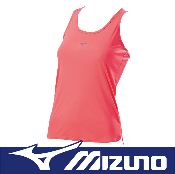 MIZUNO 美津濃 女性 運動路跑背心 瑜珈背心 吸汗快乾 防曬 反光 J2TA670651 素色 粉桃色
