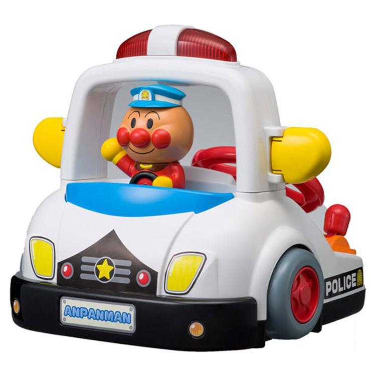 大田倉 日本進口正版商品 Anpanman 麵包超人緊急出動警車玩具 方向盤 操控喇叭信號燈 聽力練習308244