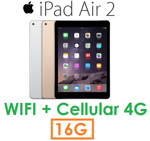 【原廠現貨】蘋果 Apple iPad Air2 平板 16G(WIFI + Cellular 版)Air 2 4G LTE ( 送皮套+保護貼)