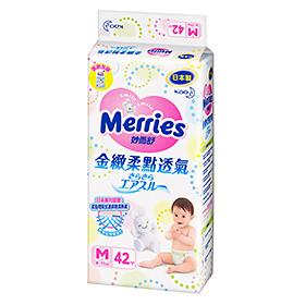 妙而舒 妙兒舒 金緻柔點透氣 紙尿褲 尿布M42 片/包