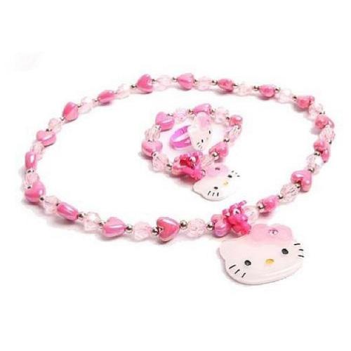 【真愛日本】16110200006愛心項鍊+戒指珠寶玩具-KT   三麗鷗 Hello Kitty 凱蒂貓 正品 玩具