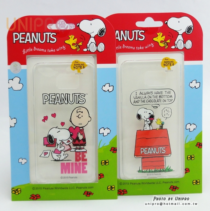 【UNIPRO】三星 NOTE5 史努比 SNOOPY 告白系列 透明 TPU 手機殼 軟殼 Peanuts N9208