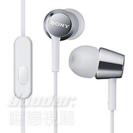 【曜德視聽】SONY MDR-EX150AP 白色 時尚金屬 支援智慧型手機 免持通話 ★免運★送收納盒★