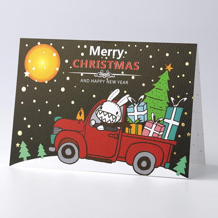 《Foufou》聖誕燙金卡片 - X'mas Car
