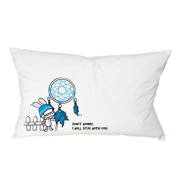 《Foufou》枕頭套(單入)-捕夢網Dreamcatcher(藍)