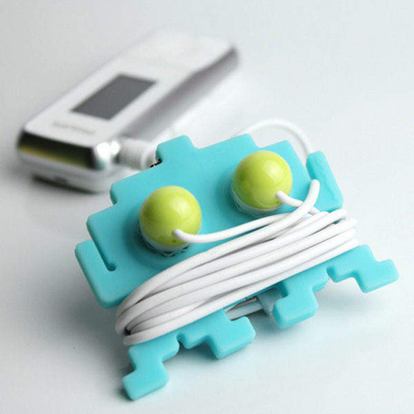 《yeduo 葉朵設計》-綁架外星人耳道式耳機捲線器-單一入