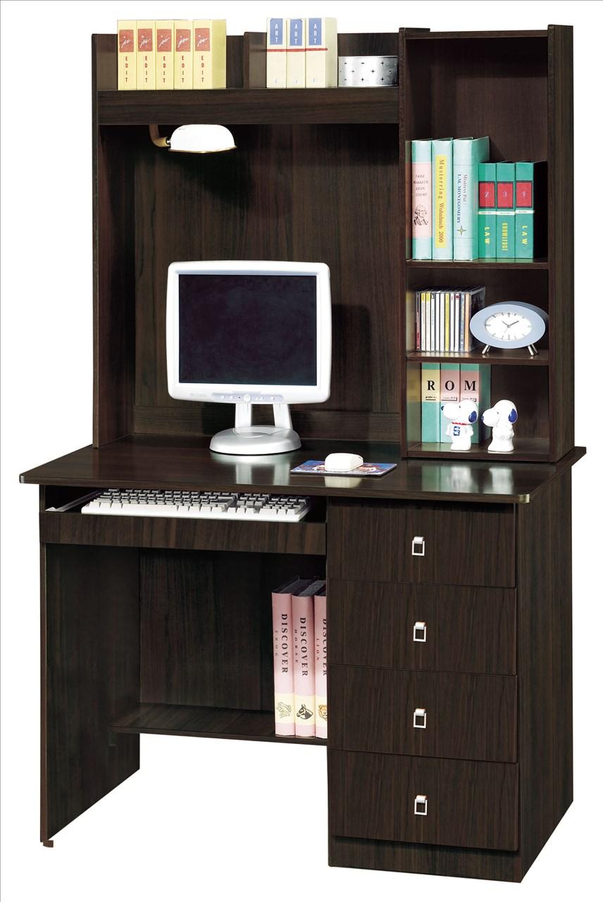 【石川家居】EF-306-6 福星胡桃色3.5尺電腦桌(下座) (不含上座及其他商品) 需搭配車趟