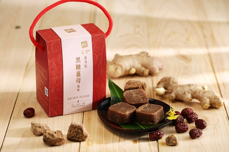 【糖鼎養生鋪】★禮盒包裝★四合一黑糖薑母茶磚(35克x14顆獨立包裝)