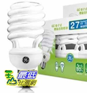[COSCO代購如果沒搶到鄭重道歉] GE 螺旋27W T3省電燈泡4入X2 共8入裝 -白光/黃光 _W107299-B