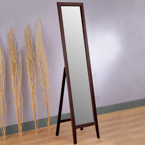 熱賣品!原價1299↘ Yostyle 松木穿衣鏡 立鏡 全身鏡(胡桃色)