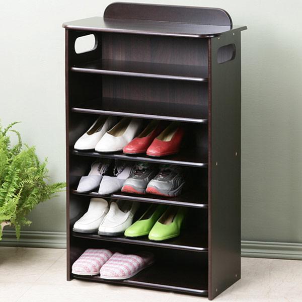 Yostyle 新古典歐風六層鞋櫃(胡桃色) 鞋架 收納櫃 展示櫃 系統櫃 玄關  開放式