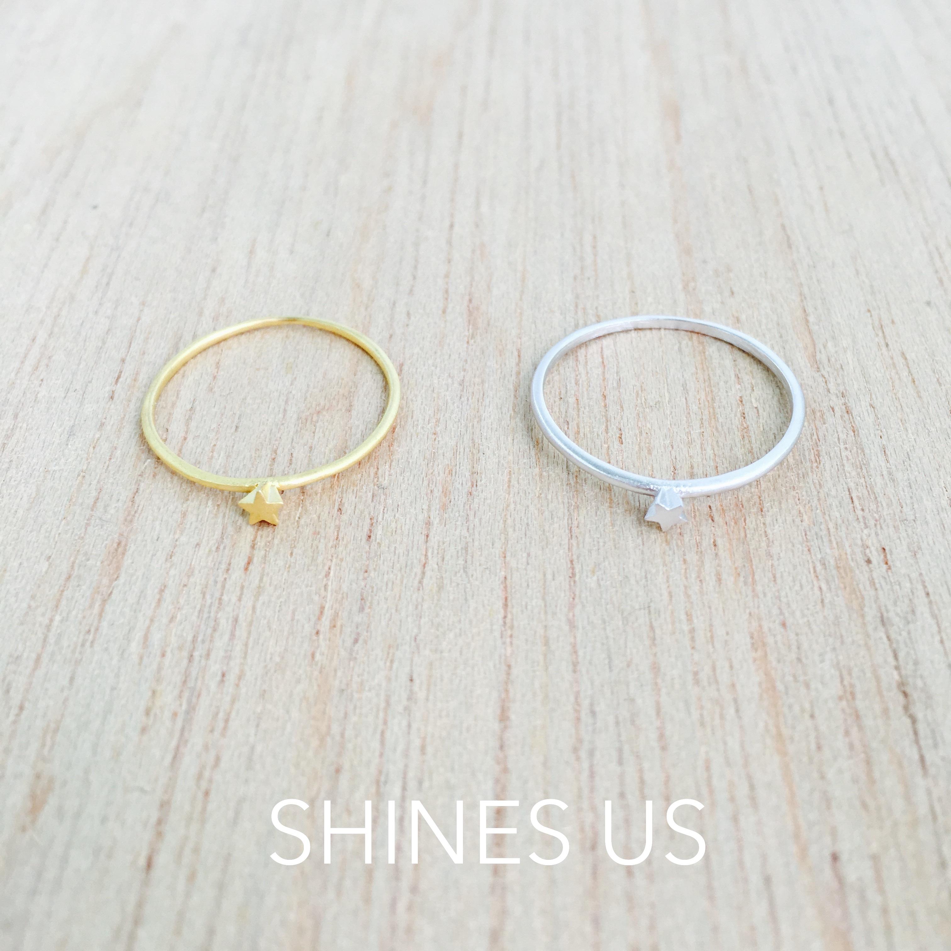 【SHINES US】正韓 霧面星星立體戒指