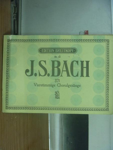 【書寶二手書T1/音樂_PPH】J.S.BACH_371