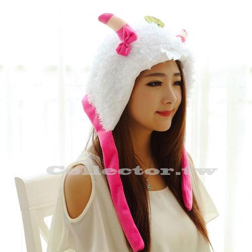【M15011901】新款羊咩咩動物造型帽 喜羊羊表演頭套 尾牙晚會表演道具