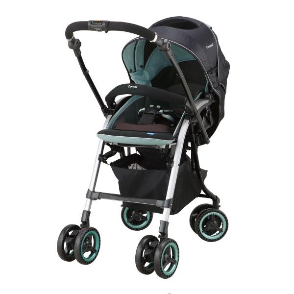 *加贈新圍兜離乳餐具組* Combi康貝 - Nemurie UF800 雙向嬰兒手推車 -夜曲藍