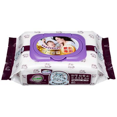 【悅兒樂婦幼用品舘】Baan 貝恩 EDI嬰兒保養柔濕巾80抽(1包)★紫色新包裝★