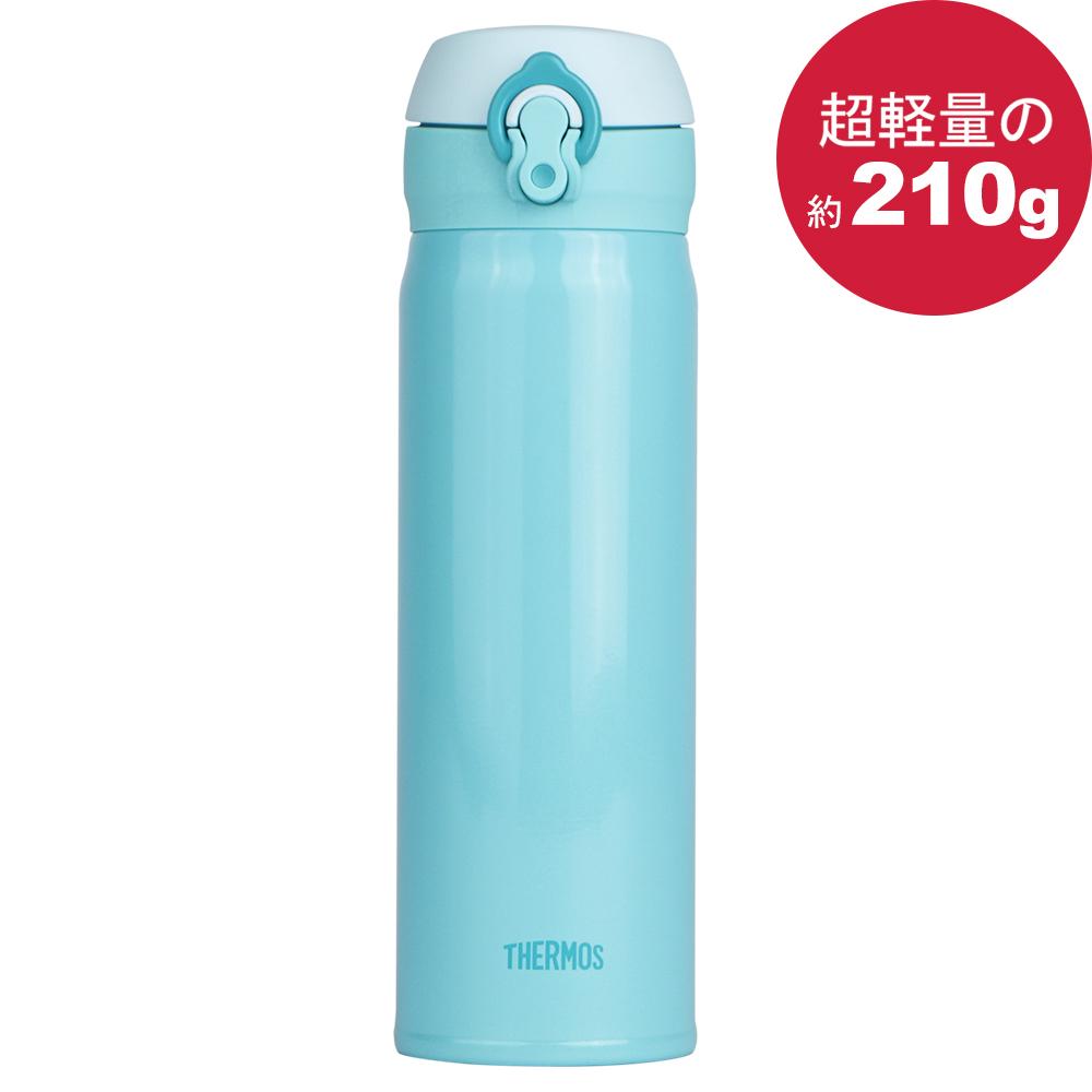 THERMOS膳魔師 超輕量不鏽鋼真空彈蓋保溫瓶保溫杯500ml-天空藍【JNL-502】(MF0383B)