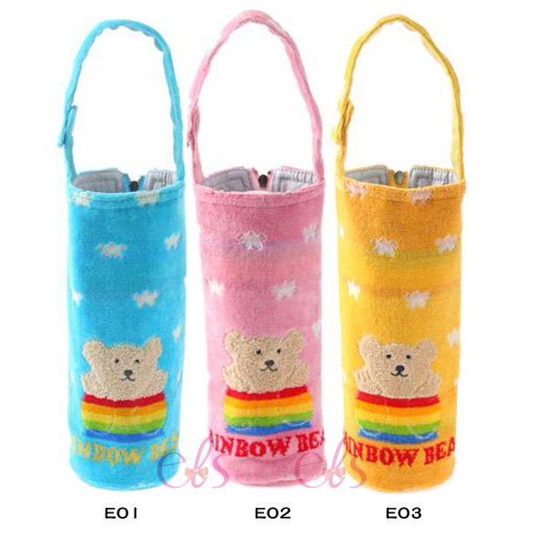 日本RAINBOW BEAR 彩虹熊 水壺拉鍊手提袋 E01/E02/E03 三款供選 ☆艾莉莎ELS☆