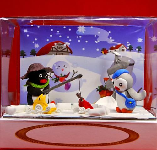 小企鵝捏麵人 盒長 10.1cm* 寬 15.3cm*高 13cm 【捏麵人】