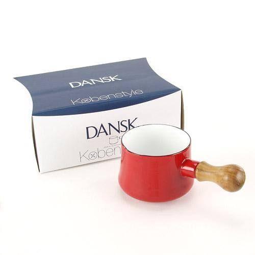 日本直送 DANSK Kobenstyle 琺瑯木柄牛奶鍋