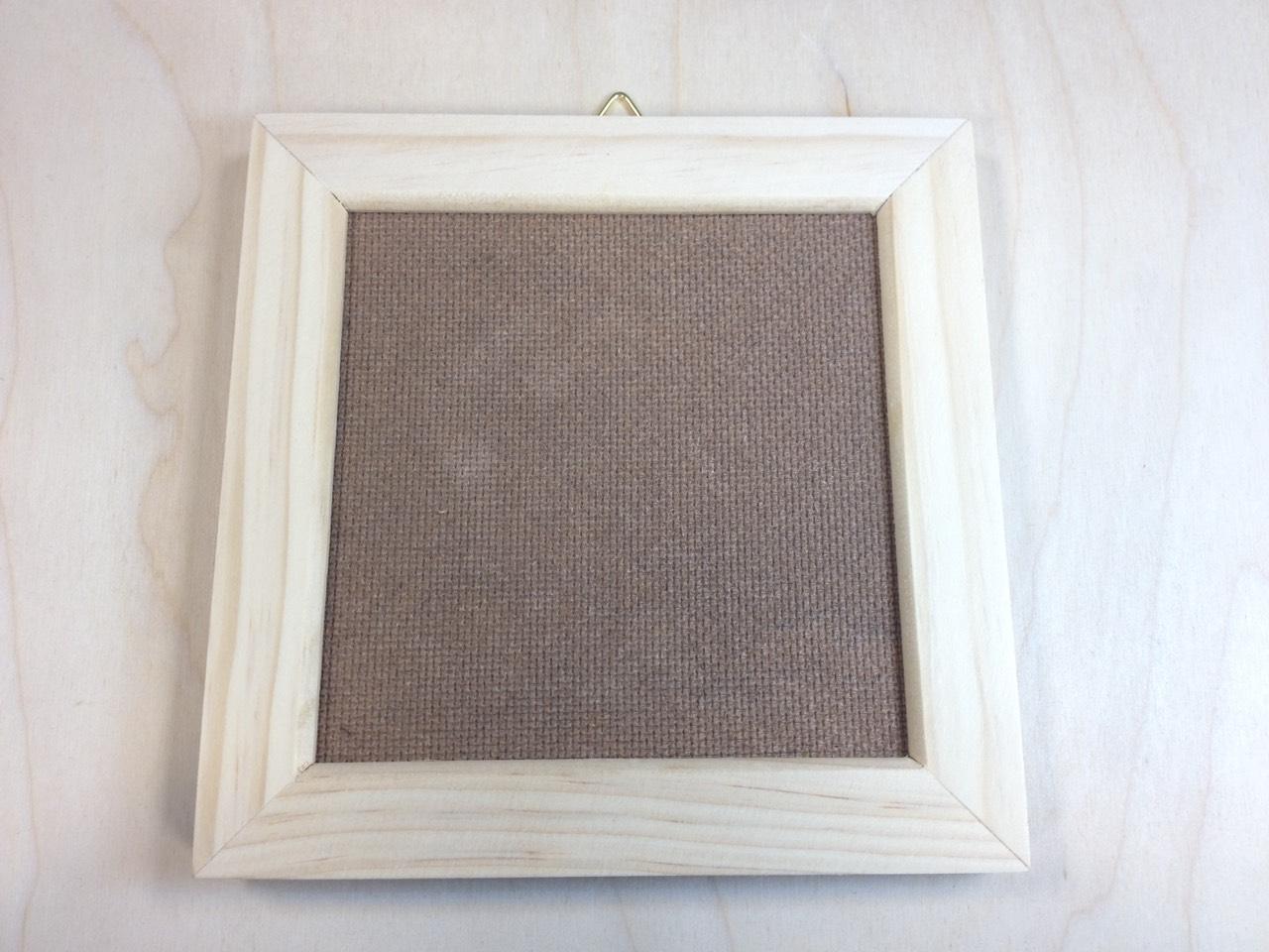 DIY手作材料-15*15cm 原木相框