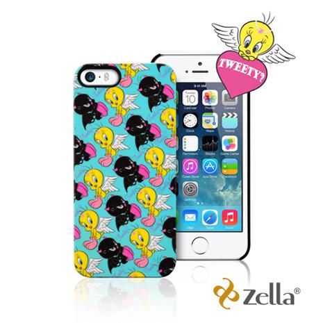 [福利品] Zella iPhone5/5S Tweety天使與魔鬼系列保護殼-藍綠