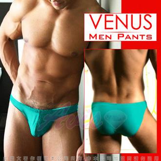 情趣用品VENUS 低腰摩登素色三角褲 俏皮綠