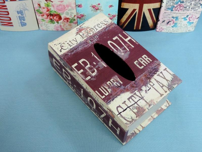 ◤彩虹森林◥《工業風》 書本面紙盒 木製皮革面紙盒 工業風面紙盒 磁扣式 收納盒 發票桶