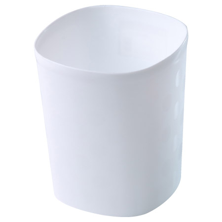垃圾桶 3.5L 小都會 白 TRNT019-W
