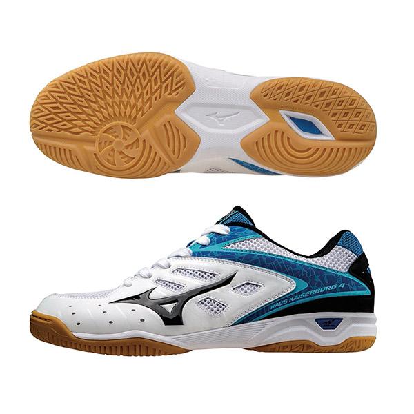 WAVE KAISERBURG 4 寬楦桌球鞋 81GA162009(白X黑)S【美津濃MIZUNO】