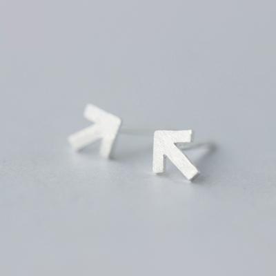 925純銀耳環耳針式耳飾-簡約箭頭符號造型生日情人節禮物女飾品73dr51【獨家進口】【米蘭精品】