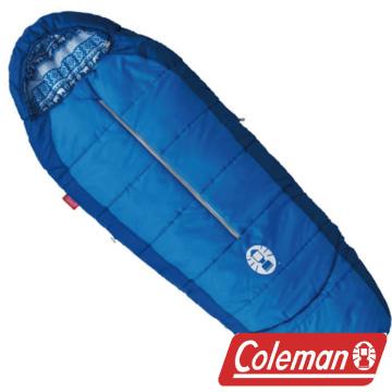 Coleman 4度兒童可調式海軍藍睡袋/C4 人形睡袋 蛋型睡袋 化纖睡袋 露營 CM-2