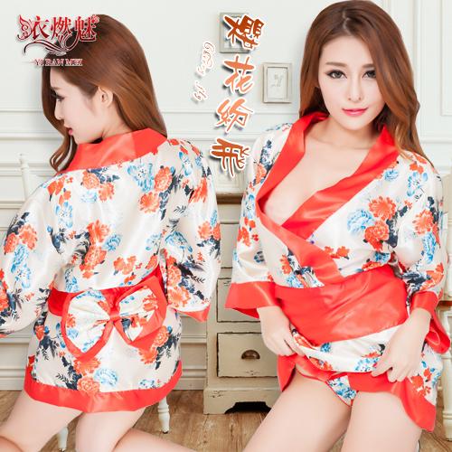 情趣用品 《YIRAN MEI》櫻花紛飛!迷惑女人香日式和服浴袍三件組
