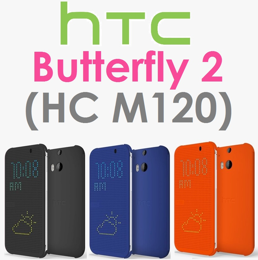 【原廠吊卡盒裝】宏達電 HTC Butterfly2 Dot View(HC M120)炫彩保護套 原廠皮套 洞洞套 BUTTERFLY 2 蝴蝶機2 蝴蝶2