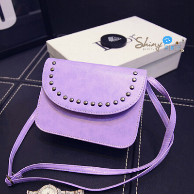 【P014】shiny藍格子-英倫複古.韓版新款斜挎包小包包單肩包