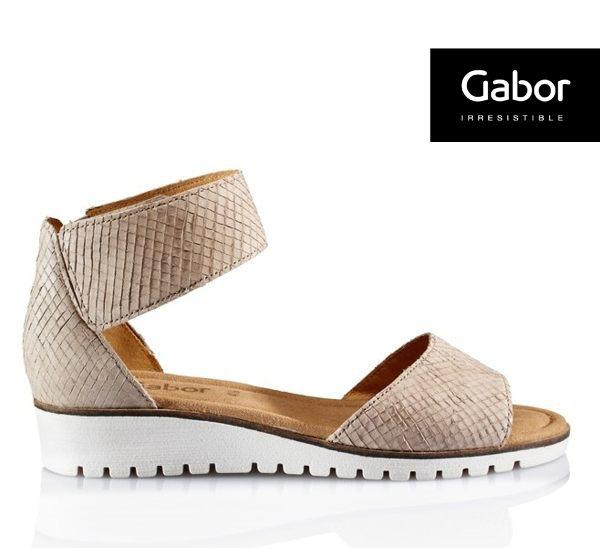 Gabor 羅紋輕柔美學氣質魔鬼氈繞踝涼鞋