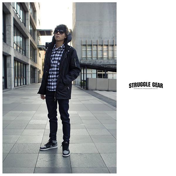 【StruggleGear】N3B軍裝防風外套「黑色」98913