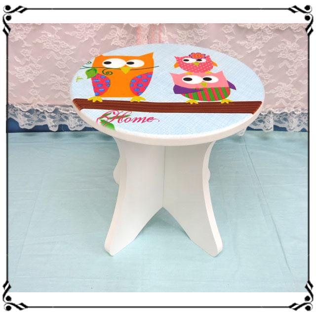 木製小椅子《WA9》ZAKKA貓頭鷹小圓凳 小凳子 木製座椅 木凳 穿鞋椅 露營椅 兒童椅◤彩虹森林◥