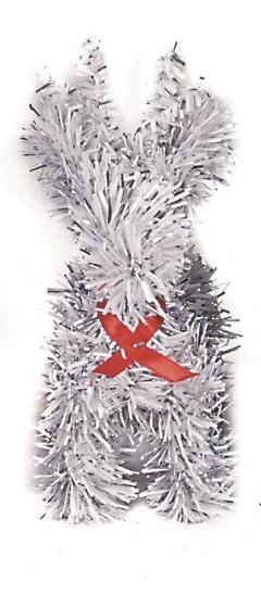 X射線【X100328】聖誕小麋鹿-銀 (五吋),聖誕/佈置/聖誕裝飾/擺飾/交換禮物