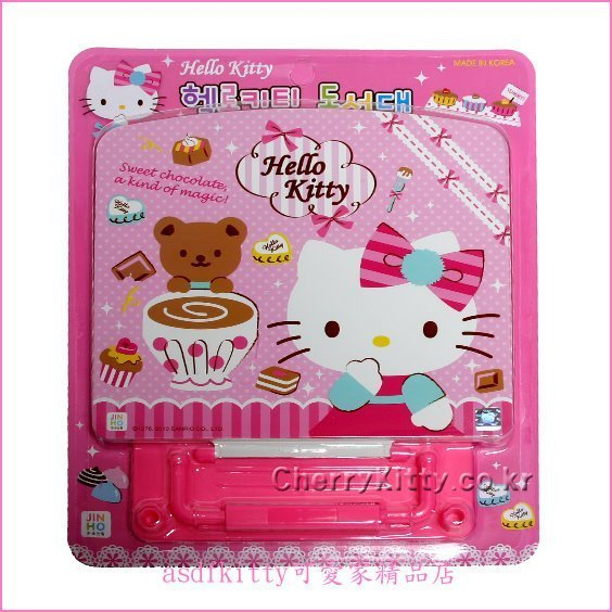 asdfkitty可愛家☆KITTY小熊版粉書架-可當課本架,食譜架,樂譜架,平版架-韓國製