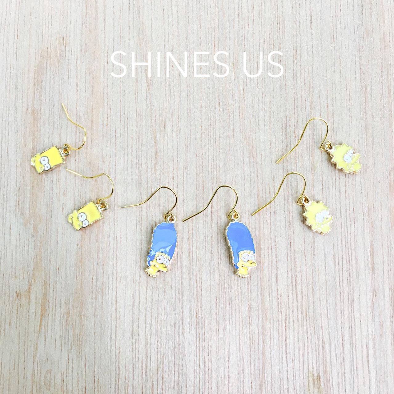 【SHINES US】正韓 辛普森家族耳環 (可改耳夾式)