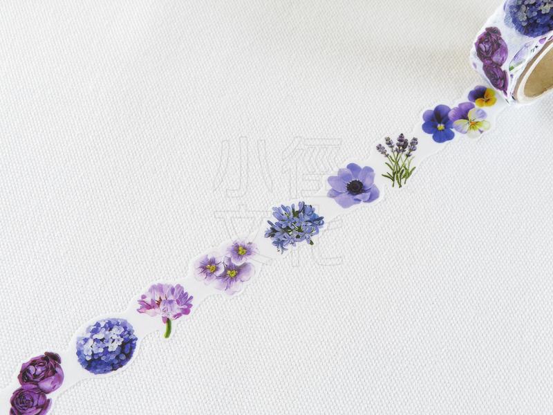 *小徑文化*日本進口 Yano design 造型和紙膠帶 花系列 - purple ( YD-MK-044 )