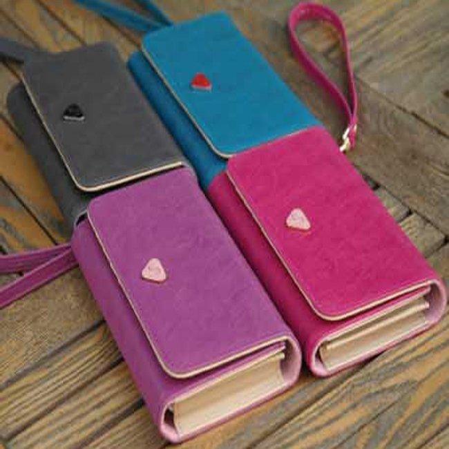 * Anne&Alice包包購 * ~韓版新款多功能時尚純色手機包零錢包卡包手拎錢包優惠特價~多色可供選擇~*