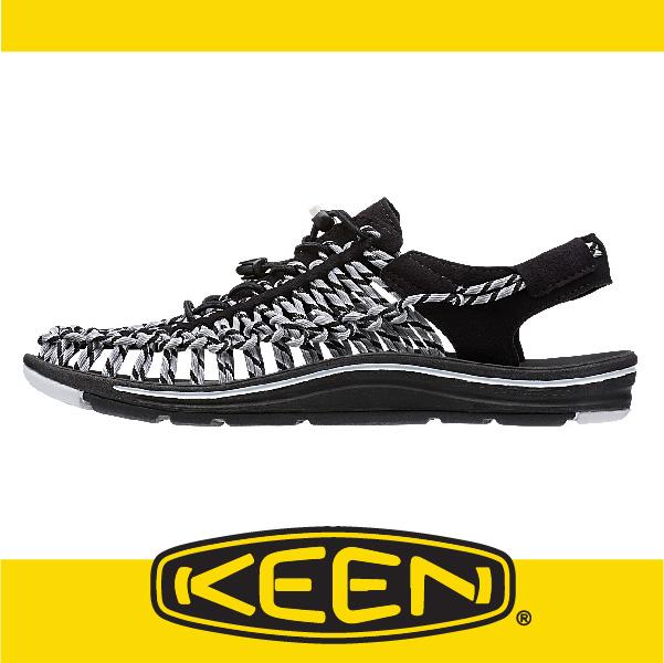萬特戶外運動-美國KEEN 戶外編織涼鞋 UNEEK 2016 男款 雙色款 黑/灰 161-1014612