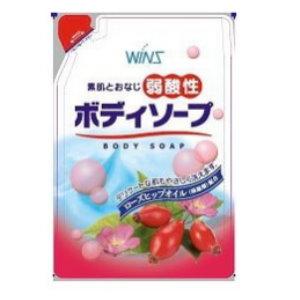 日本製WINS玫瑰果油沐浴乳補充包400ML 阿志小舖