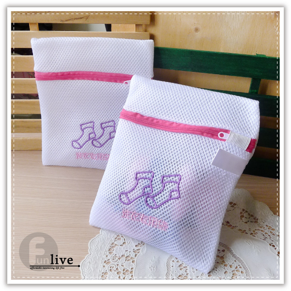 【aife life】日系綉花洗襪袋/立體 雙層 細網 蜘蛛網 洗衣袋 內衣洗衣球 不傷衣物 不洗毛球 旅行衣物收納袋
